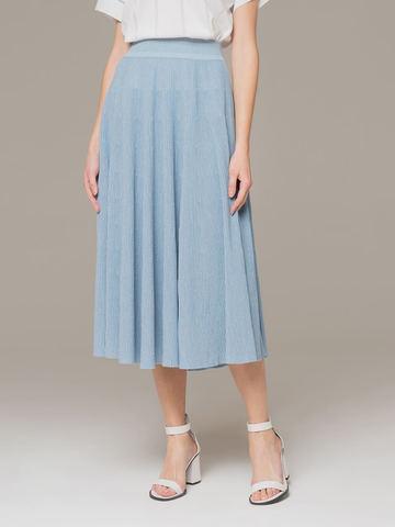 Женская юбка-миди голубого цвета - фото 4