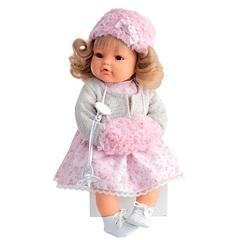 Munecas Antonio Juan Озвученая кукла Белла в белом, 42 см (1669W)
