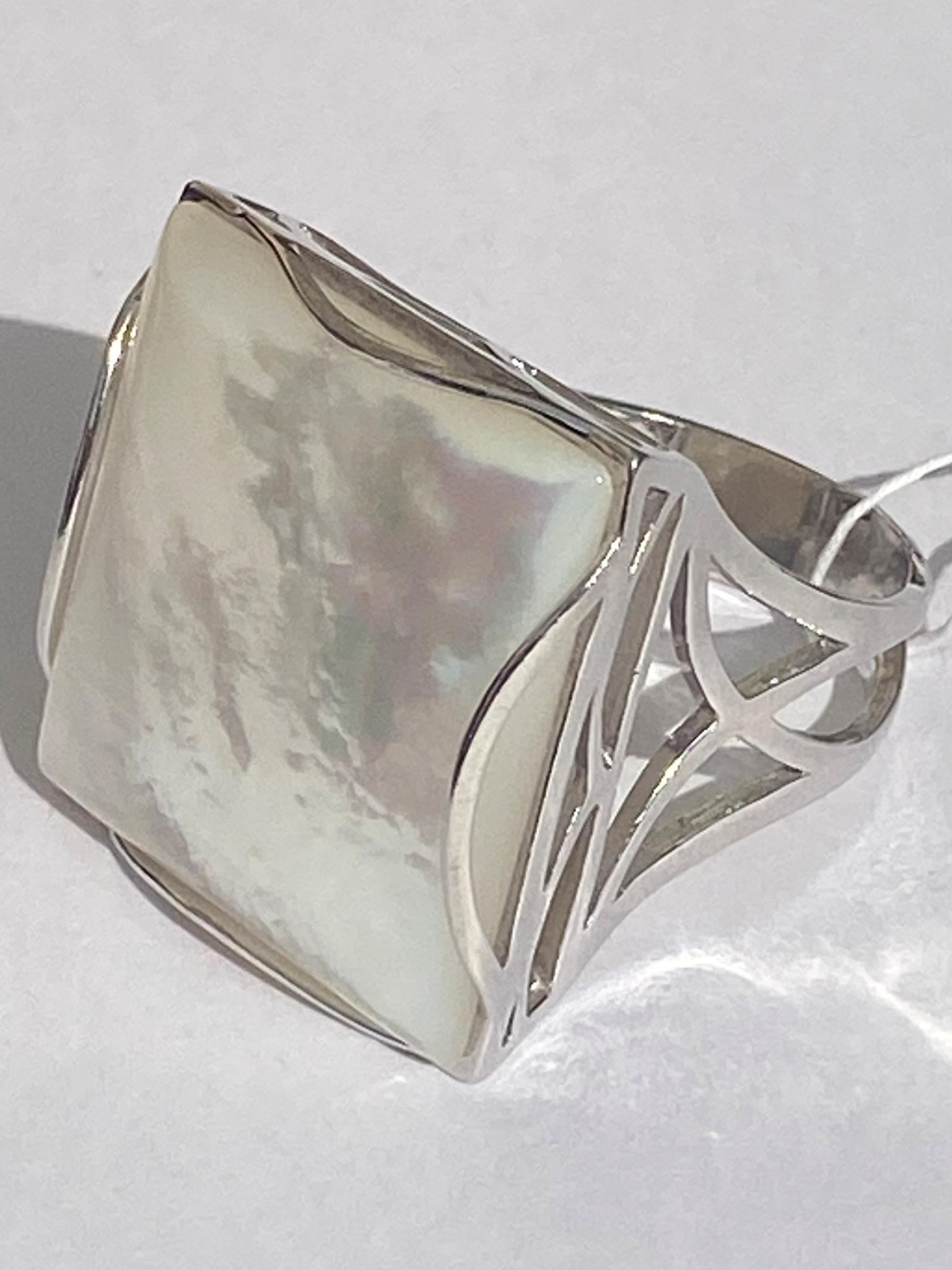 Градэ-перламутр  (кольцо из серебра)