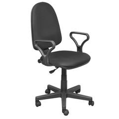 Кресло офисное Prestige черное (ткань/пластик)