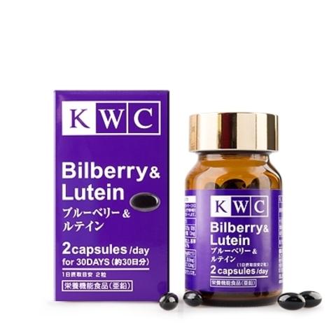 Черника и Лютеин, KWC, 60 капсул