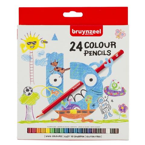 Набор цветных карандашей Bruynzeel Kids 24 цвета в картонной упаковке