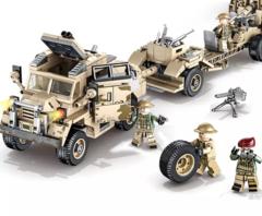 Конструктор серия Армия Британская 25-фунтовая гаубица и тягач