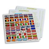 Набор наклеек флаги стран EURO (24 страны)