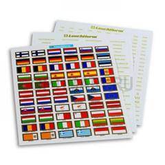 Набор наклеек-флагов для 24 стран Евросоюза для маркировки монет