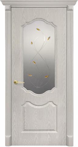 Дверь Канадка Анастасия (беленый дуб, остекленная ПВХ), фабрика AIRON
