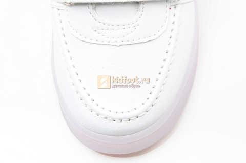 Светящиеся кроссовки с USB зарядкой Бебексия (BEIBEIXIA) для девочек цвет белый. Изображение 11 из 12.