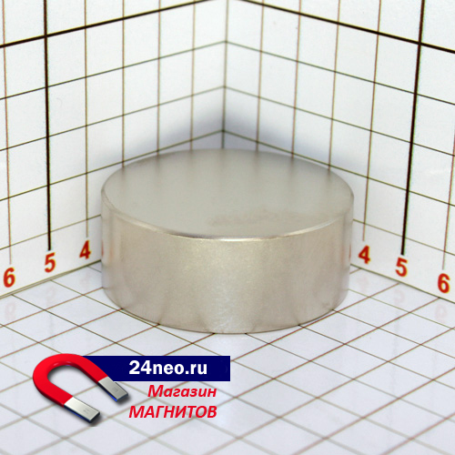 Неодимовый магнит диск 50x30 мм