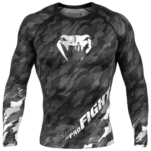 Рашгард Venum Tecmo Rashguard LongSleeves - Black/Grey