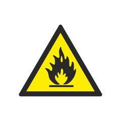 W01 Пожароопасно. Легковоспламеняющие вещества (плёнка ПВХ, 200х200)
