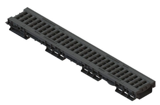 Лоток водоотводный PolyMax Basic ЛВ-10.16.06-ПП