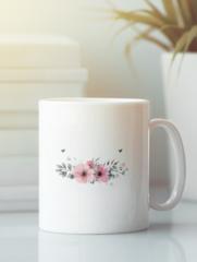 Кружка с изображением Цветы (Маки) белая 003