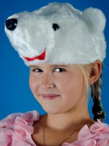 Карнавальная шапочка Белого Медведя 2