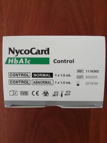 1116362 Контрольный материал на гликозилированный гемоглобин Никокард-NycoCard HbA1c, 2х1x1,5 мл /Axis-Shield, Норвегия/