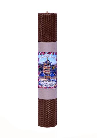 Свеча Императорский дворец коричневая 30см