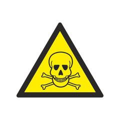 W03 Опасно. Ядовитые вещества (плёнка ПВХ, 200х200)