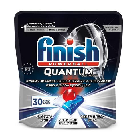 Таблетки для ПММ  Finish Quantum Ultimate 30 капсул дойпак 375гр