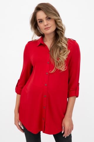 Рубашка для беременных 11203 красный
