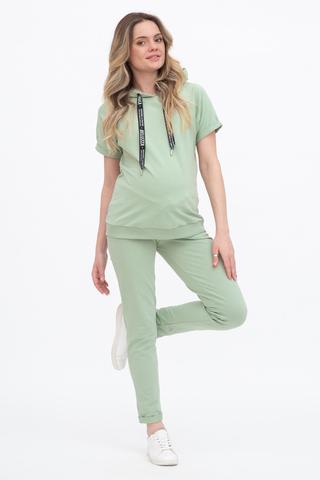 Спортивный костюм для беременных и кормящих 10621 шалфей