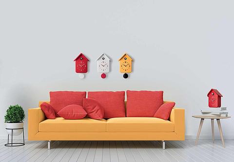 Часы с кукушкой QQ красные