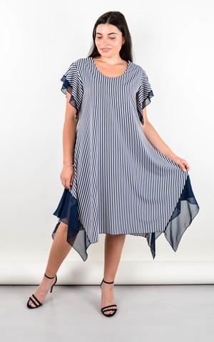 Нивея. Летнее платье для больших размеров. Белый.