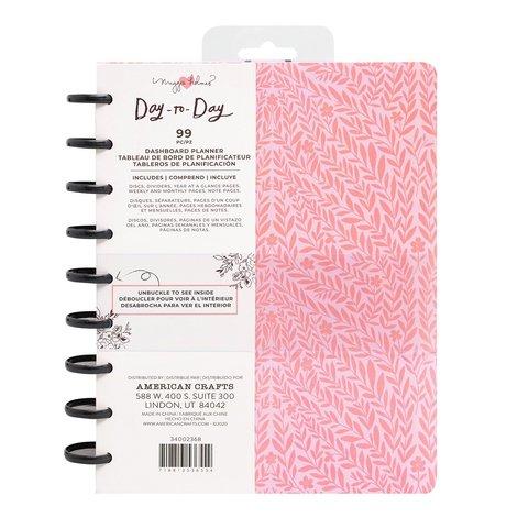 Планер на дисках, не датирован. Maggie Holmes Day-To-Day Undated Dashboard Planner 19х24 см- Pink Vines
