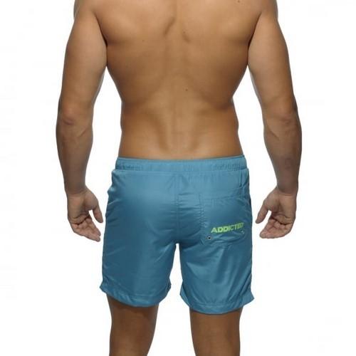 Мужские шорты удлиненные небесно-голубого цвета Addicted Sport Shorts Sky Blue