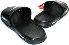 Модные мужские шлепки Reebok SS-796Black.
