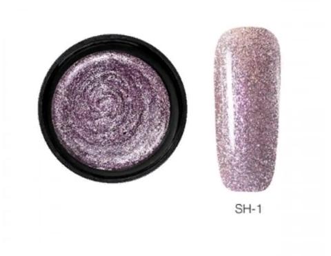 SH гель-краска блестки (глиттер в черной баночке) 10 ml тон 1