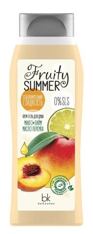 BelKosmex FRUITY SUMMER Крем-гель для душа манго лайм масло персика 500 мл