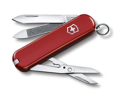 Нож-брелок Victorinox Classic Executive 81, 65 мм, 7 функций, красный
