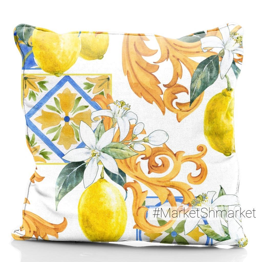 Паттерн с Лимонами. Золотые вензеля и плитка
