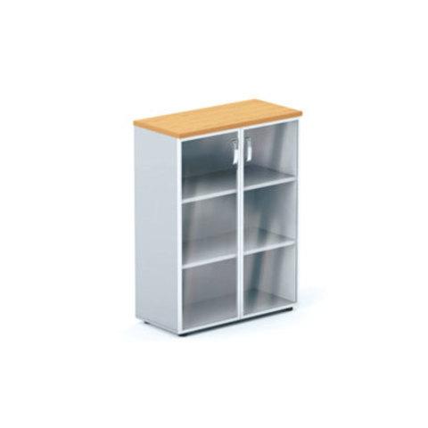 Шкаф со стеклянными дверцами (в раме) БОСТОН