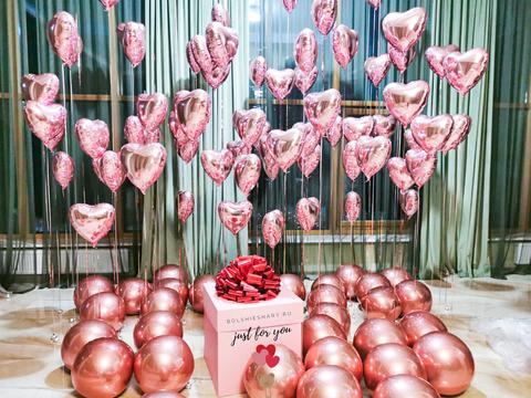 Оформление воздушными шарами для девушки