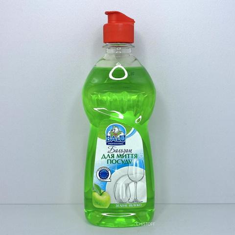 Бальзам для мытья посуды BALU 500 мл, Зеленое яблоко