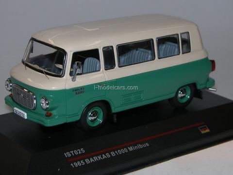 Barkas B1000 Minibus green-light grey 1965 IST025 IST Models 1:43