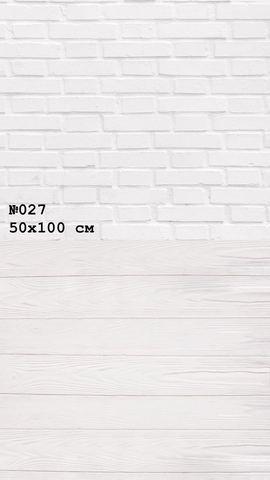 Фотофон виниловый «Кирпич доска» №027