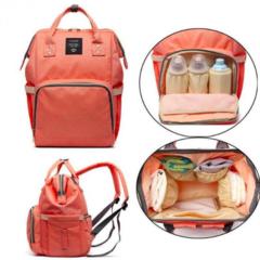 Mommy Bag. Сумка-рюкзак для мамы персик, вид 2