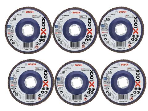 Лепестковый круг X-LOCK, 125 мм, G 60, Best for Metal.