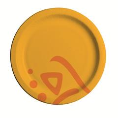 Тарелка одноразовая Huhtamaki Whizz бумажная разноцветная 180 мм 50 штук в упаковке