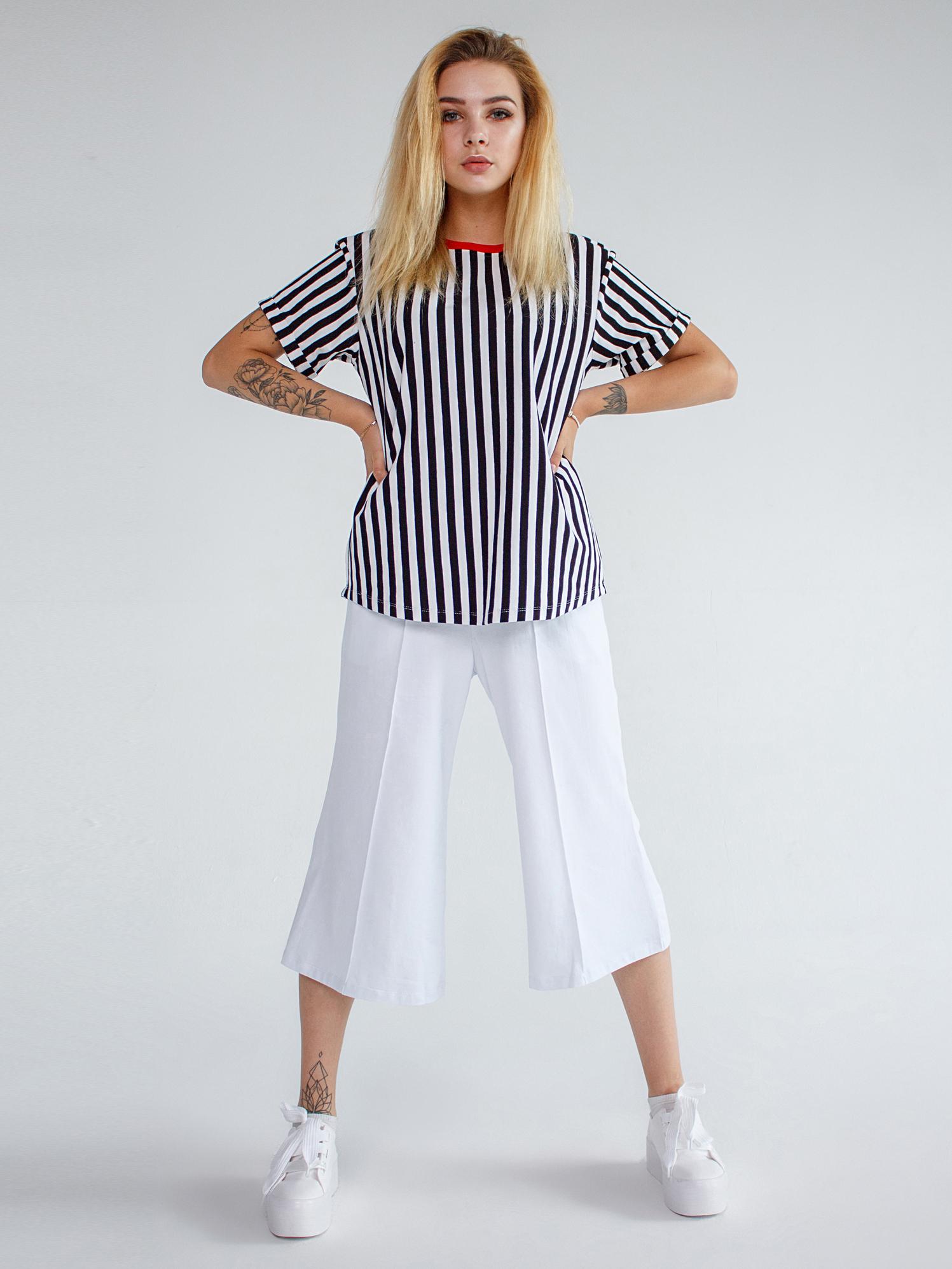 Брюки хлопковые белые YOS от украинского бренда Your Own Style