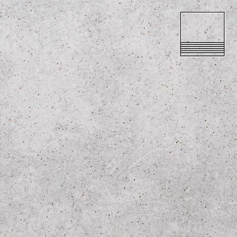 Stroeher - Keraplatte Roccia 837 marmos 300x294x10 артикул 8131 - Клинкерная ступень с насечками без угла