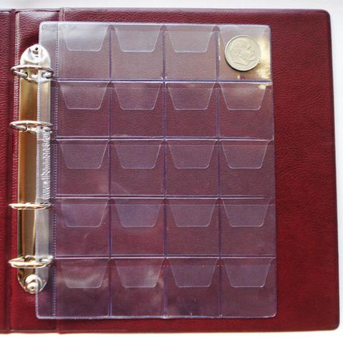 Лист на 20 монет с клапанами