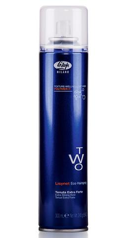Лак для укладки волос без газа экстра-сильной фиксации - Lisap Lisynet Two Eco Extra Strong Hold 300 мл