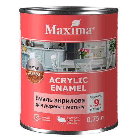 Эмаль акриловая для дерева и метала Maxima