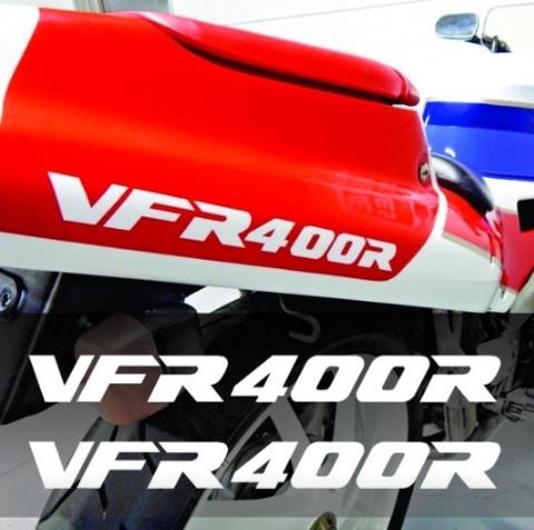 Набор виниловых наклеек на мотоцикл HONDA VFR400R (2шт)