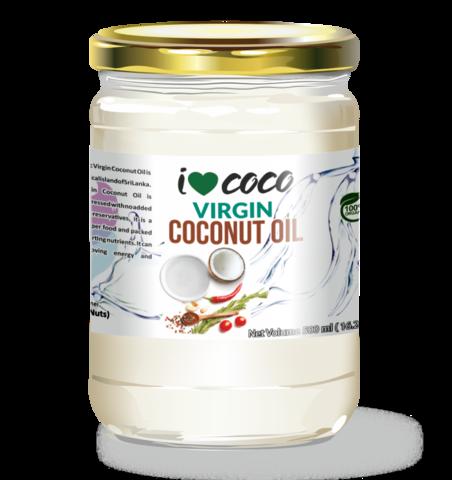Масло кокосовое холодного отжима ILOVECOCO, органическое, 500 мл