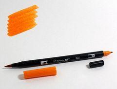 Маркер-кисть Tombow ABT Dual Brush Pen-946, золотая охра