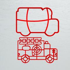Пожарная машина форма для пряника