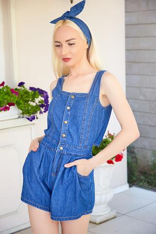 джинсовый комбинезон-шорты nadya